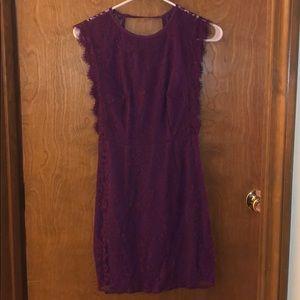 Maroon lace dress